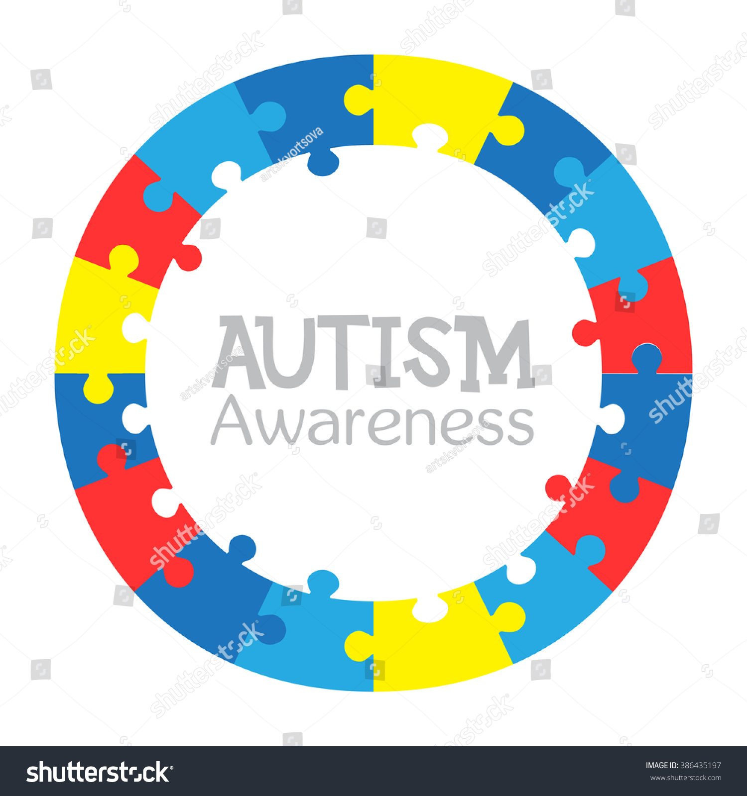World autism awareness day colorful puzzles stock vector 386435197 world autism awareness day colorful puzzles vector circle background symbol of autism medical biocorpaavc