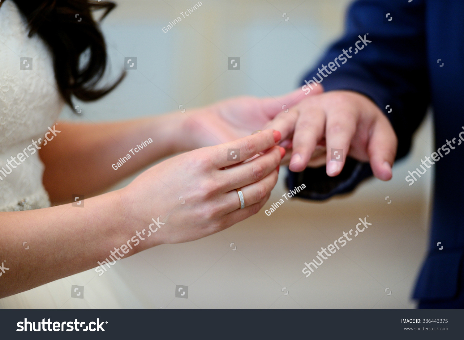Beauty Bride Handsome Groom Wearing Rings Stock Photo (Edit Now ...