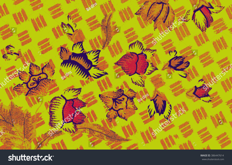Beautiful Art Malaysian Indonesian Batik Pattern Stock Illustration ...