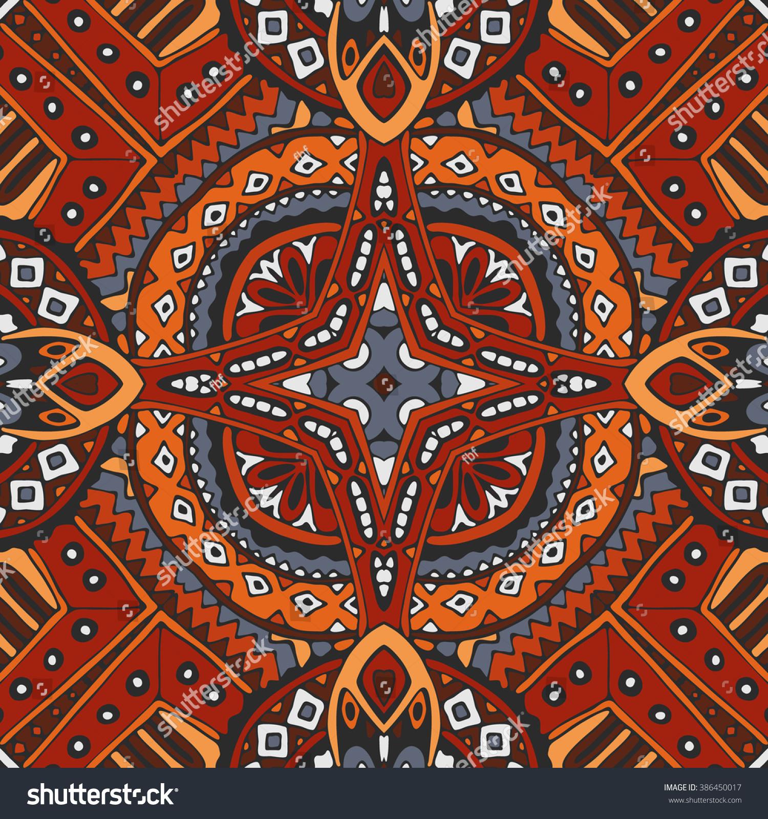 Vector African Tribe Design Vintage Ethnic Stock Vector 386450017 ...