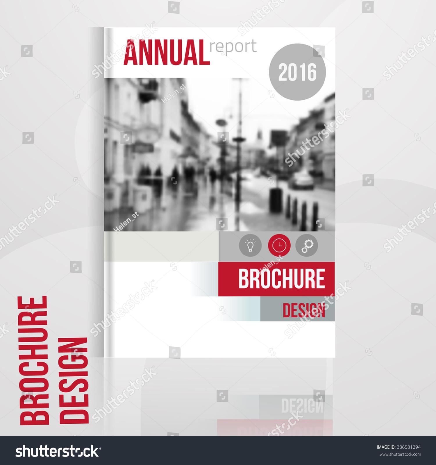 Vector Brochure Cover Template Blured City Vector de stock (libre de ...