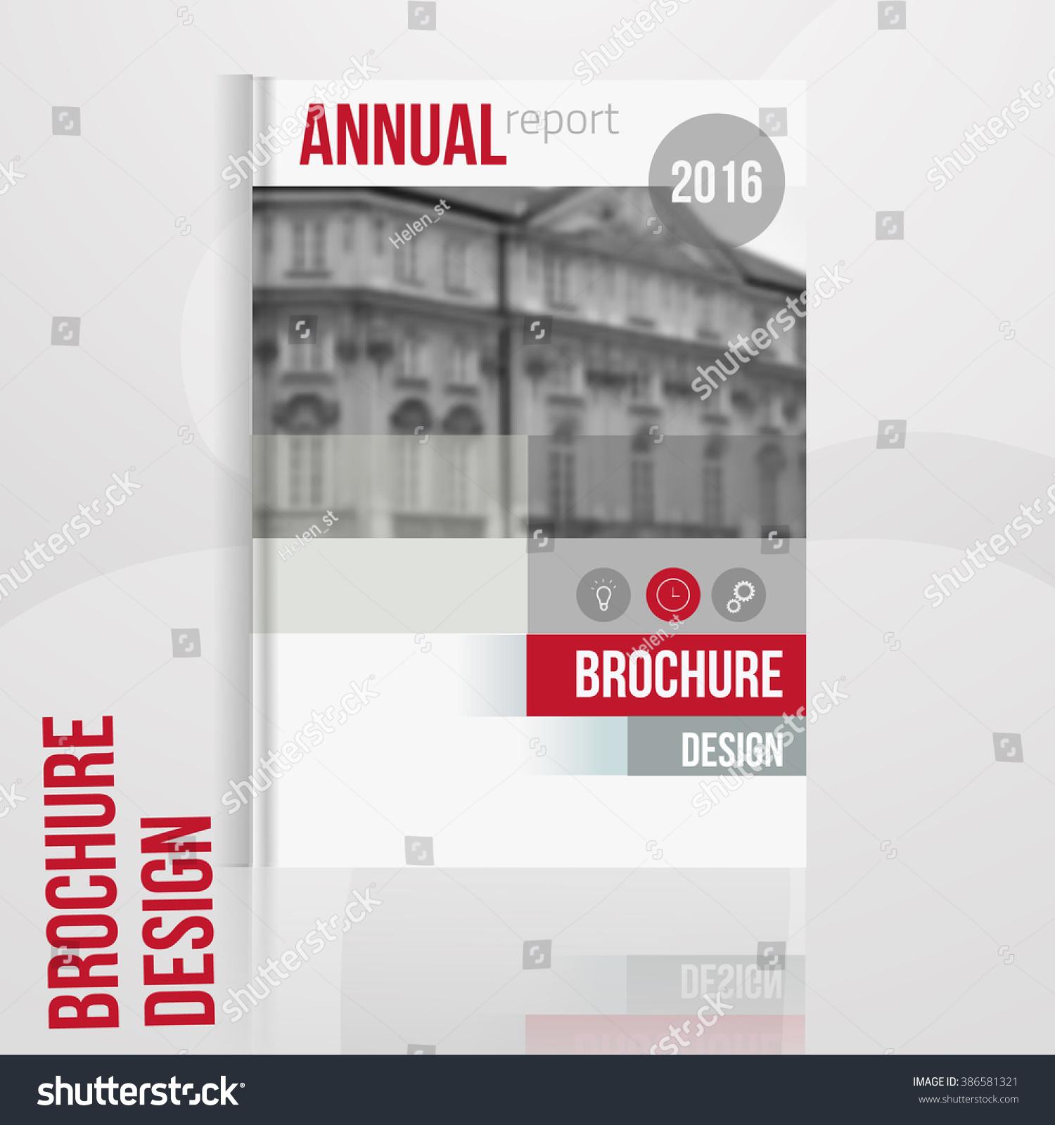 vector brochure cover template blured city stock vector  vector brochure cover template blured city landscape business brochure cover design flyer brochure