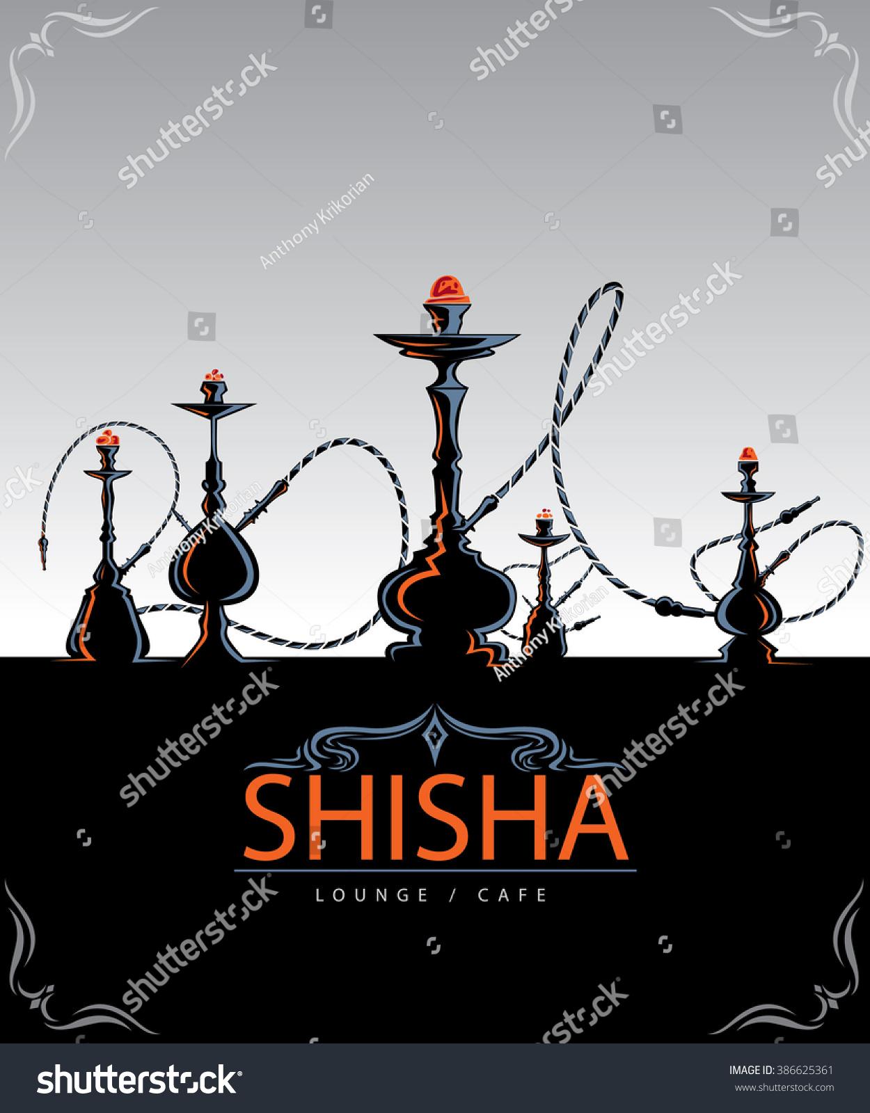 abstract hookah art shisha type hookah stock vector 386625361 shutterstock. Black Bedroom Furniture Sets. Home Design Ideas