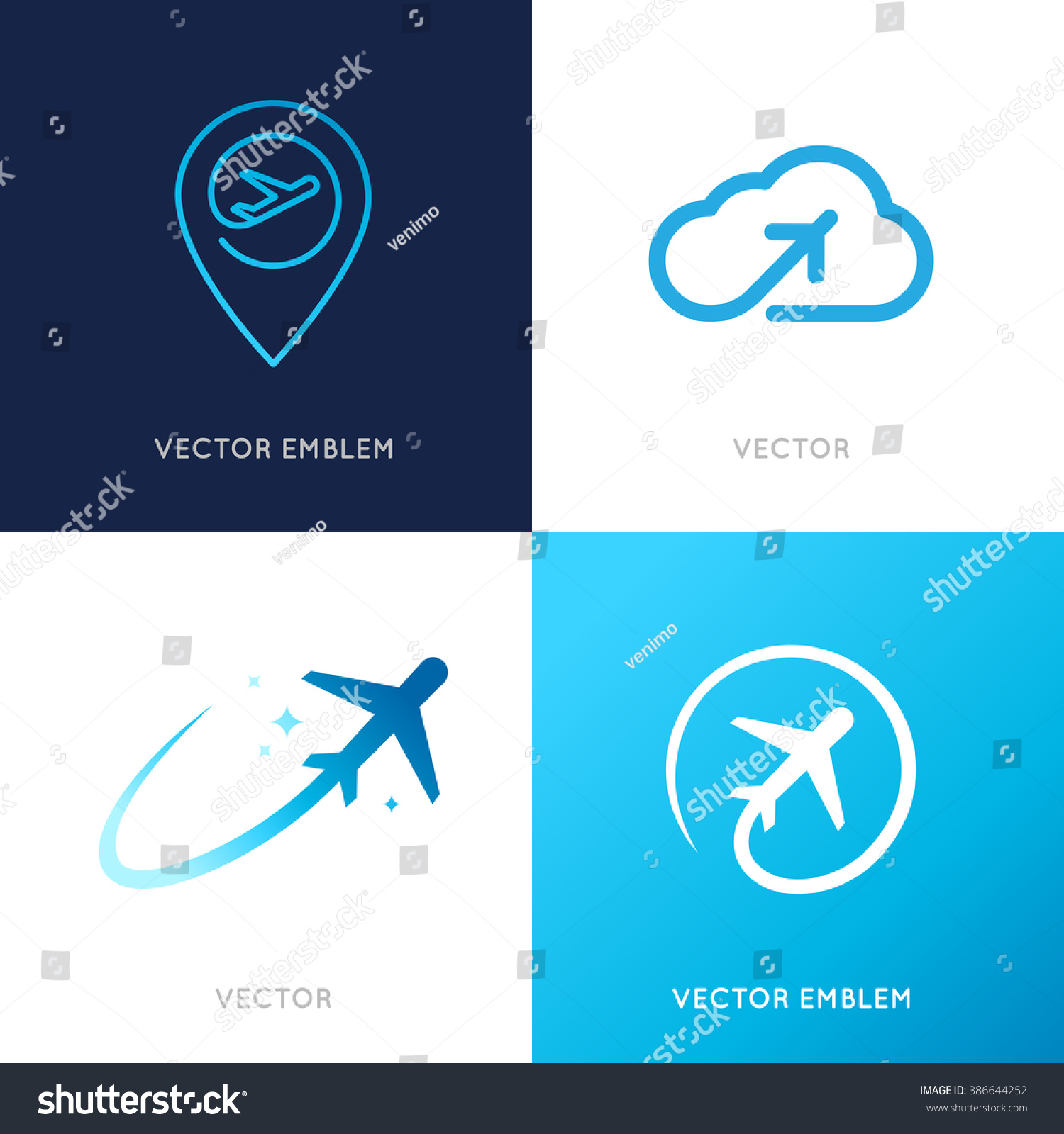 Vector logo design templates airlines airplane stock for Design a plane online