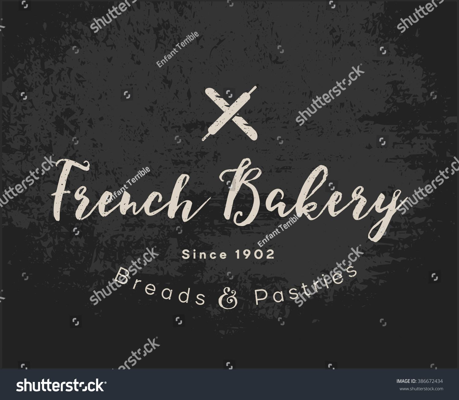 Coffee Shop Pastryshop Bakery Confectionery Business Vector – Sample Chalkboard Menu Template