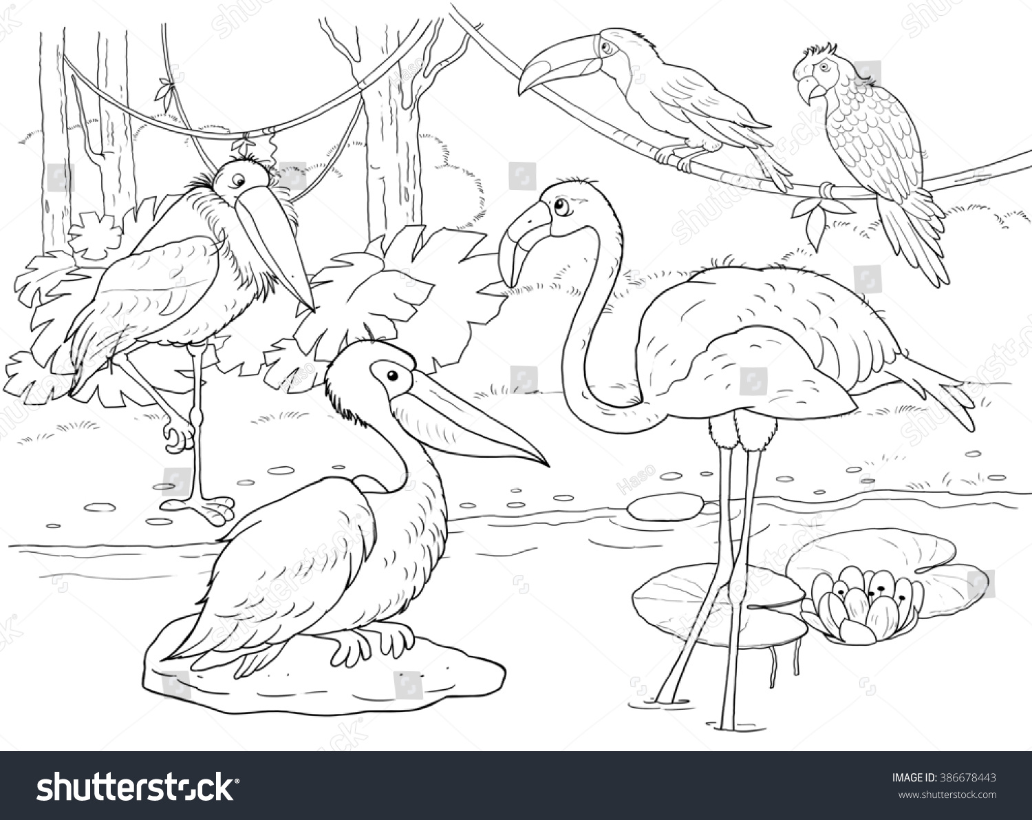 Zoo African Animals Small Set African Stock Illustration 386678443