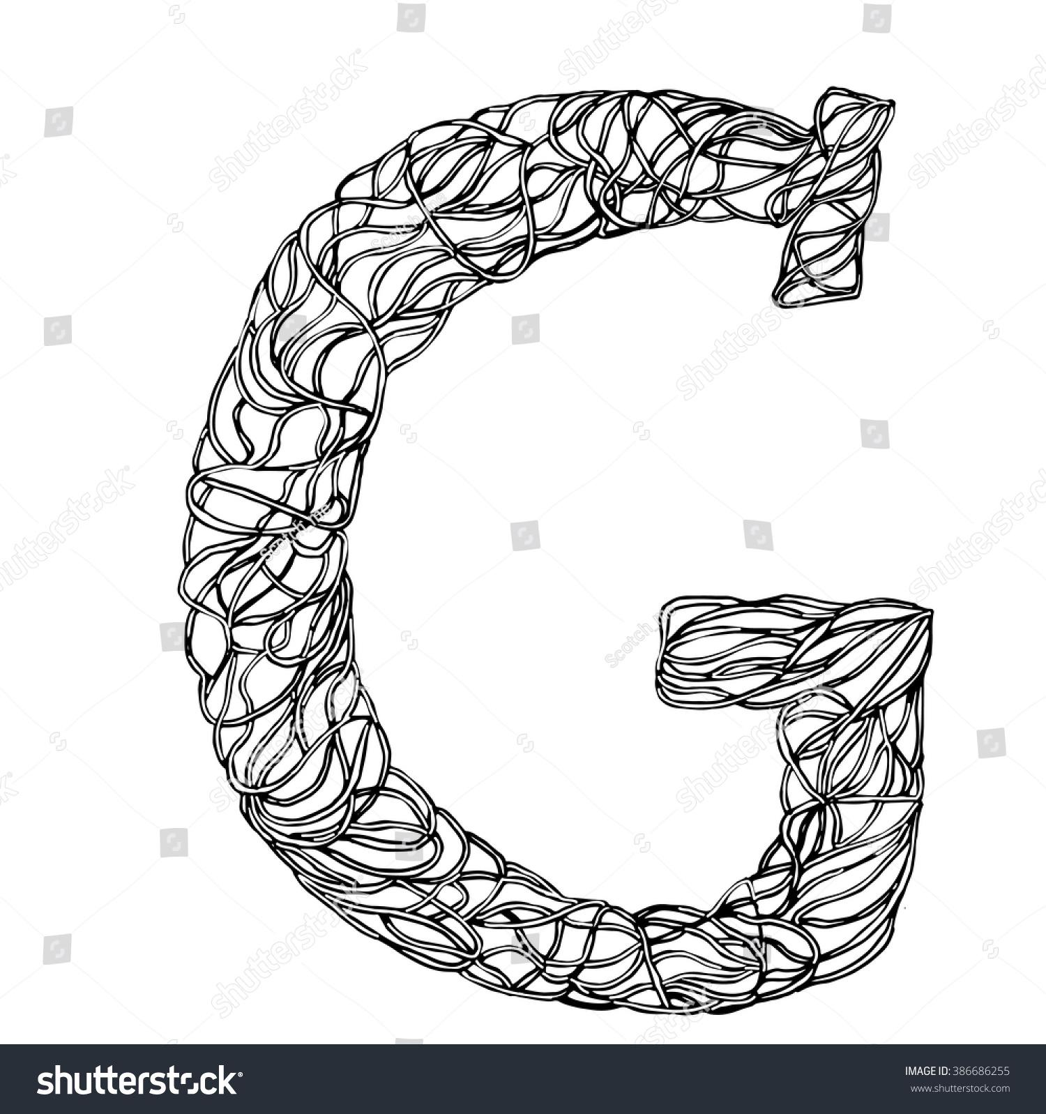 herbarium font type herbal vector letters stock vector 386686255