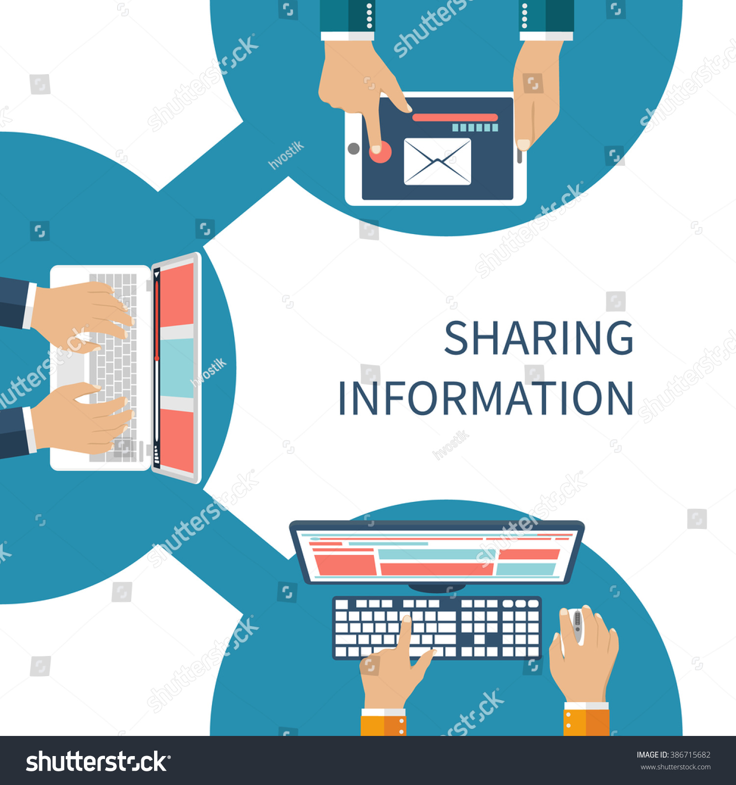 Sharing Information Concept Vector Social Network Stock