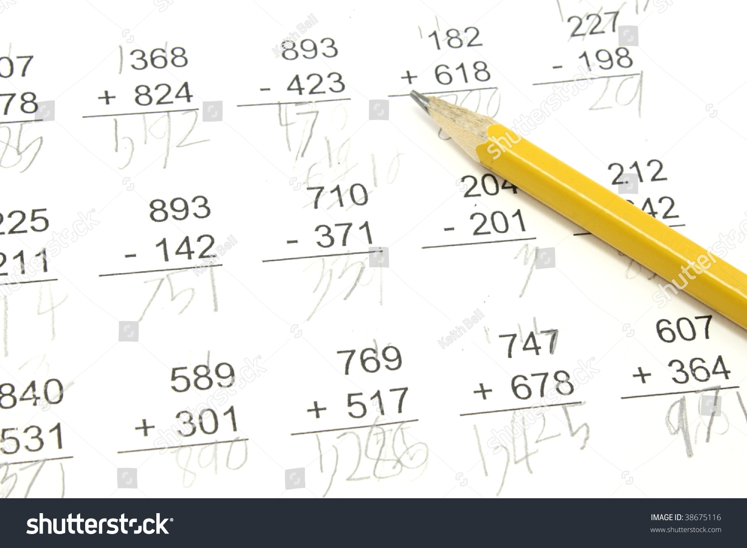 worksheet 3rd Grade Math Problems 3rd grade math problems pencil on stock photo 38675116 shutterstock with top pf paper
