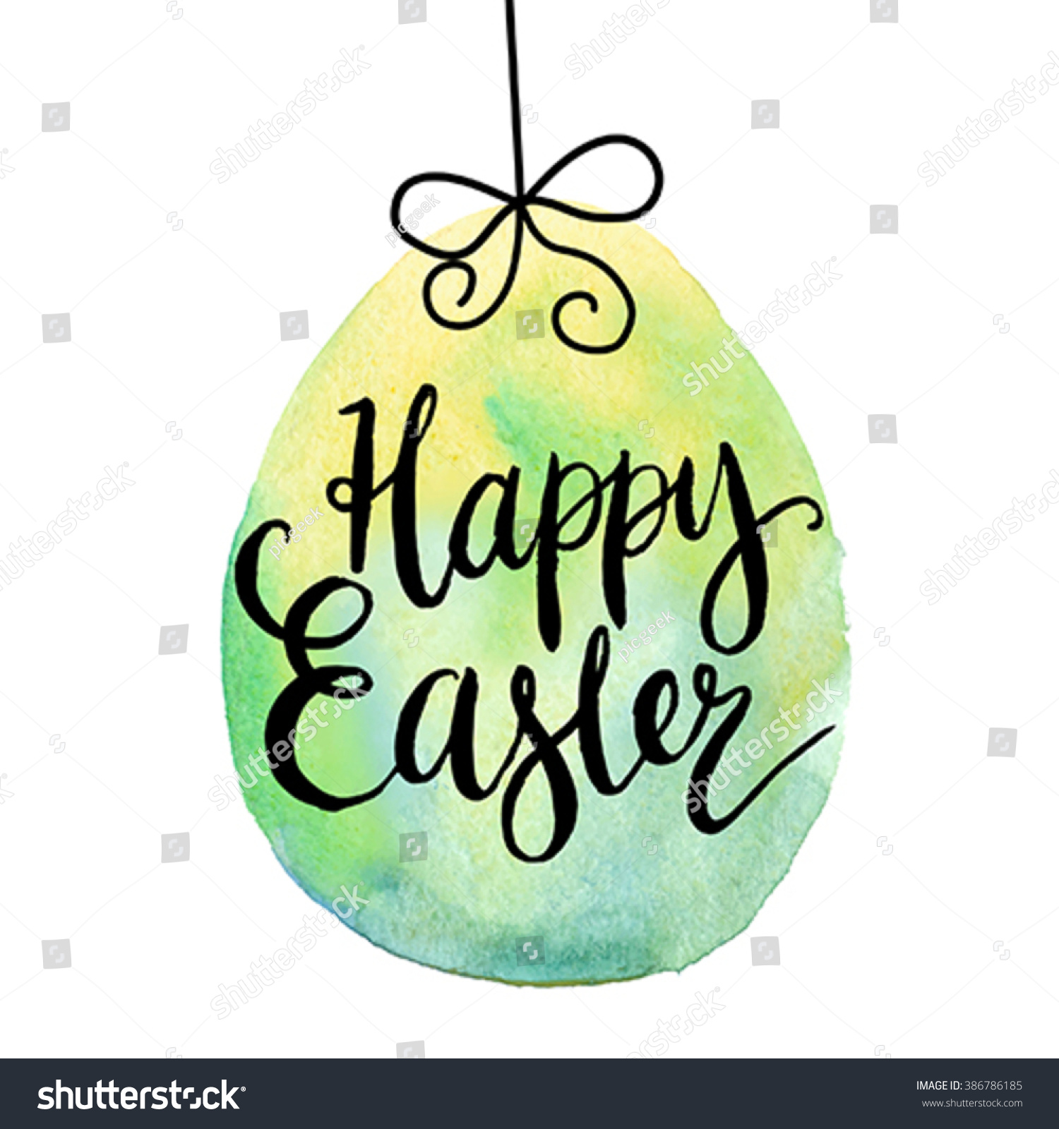 Happy Easter Cards Illustration Font Stock Vector Royalty Free