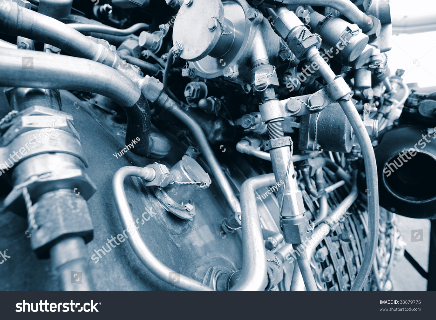 Aircraft Engine Steampunk Looking Structure Stock Photo 38679775 ...