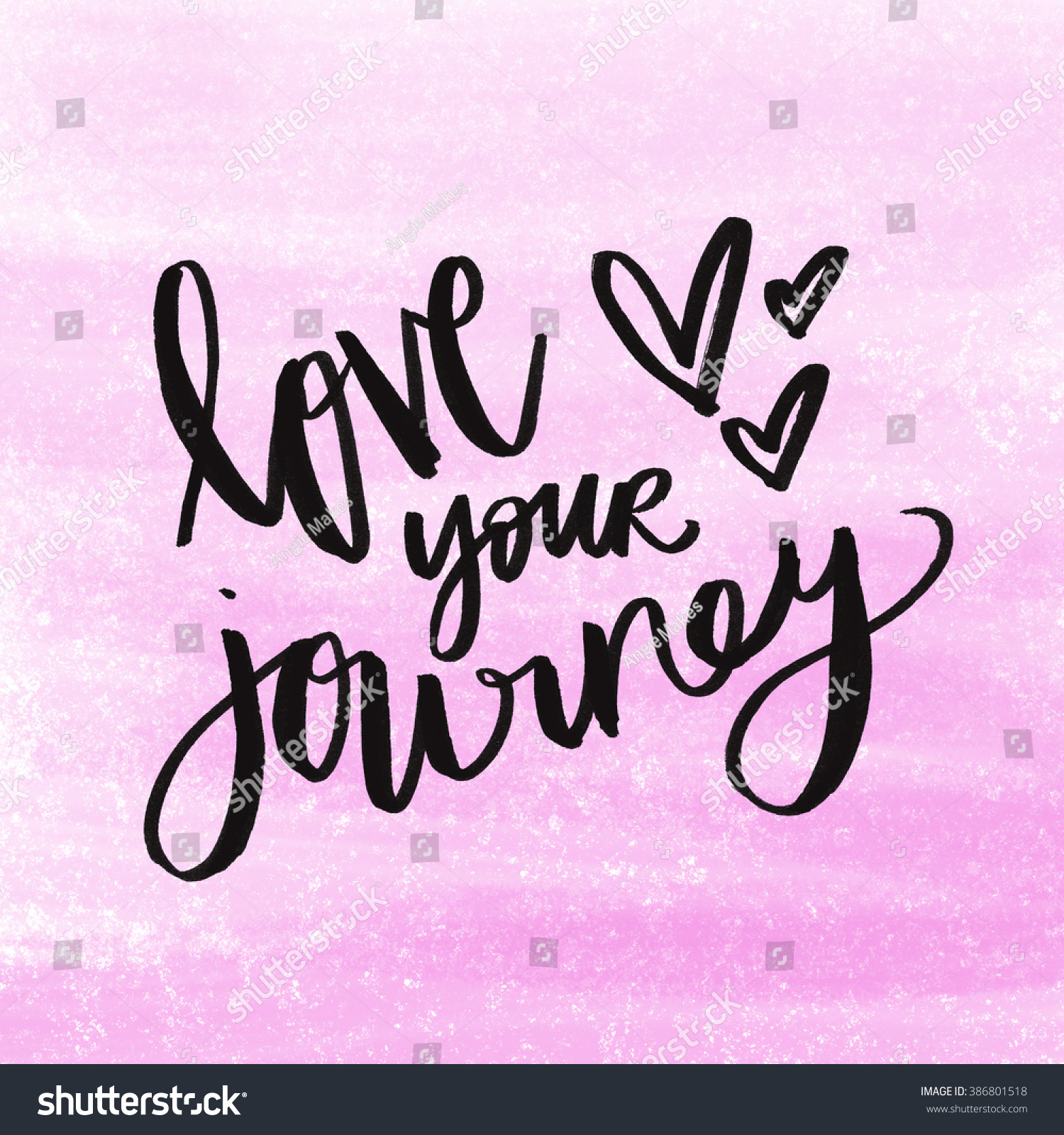 Royalty Free Stock Illustration Of Love Your Journey Quote On Pink