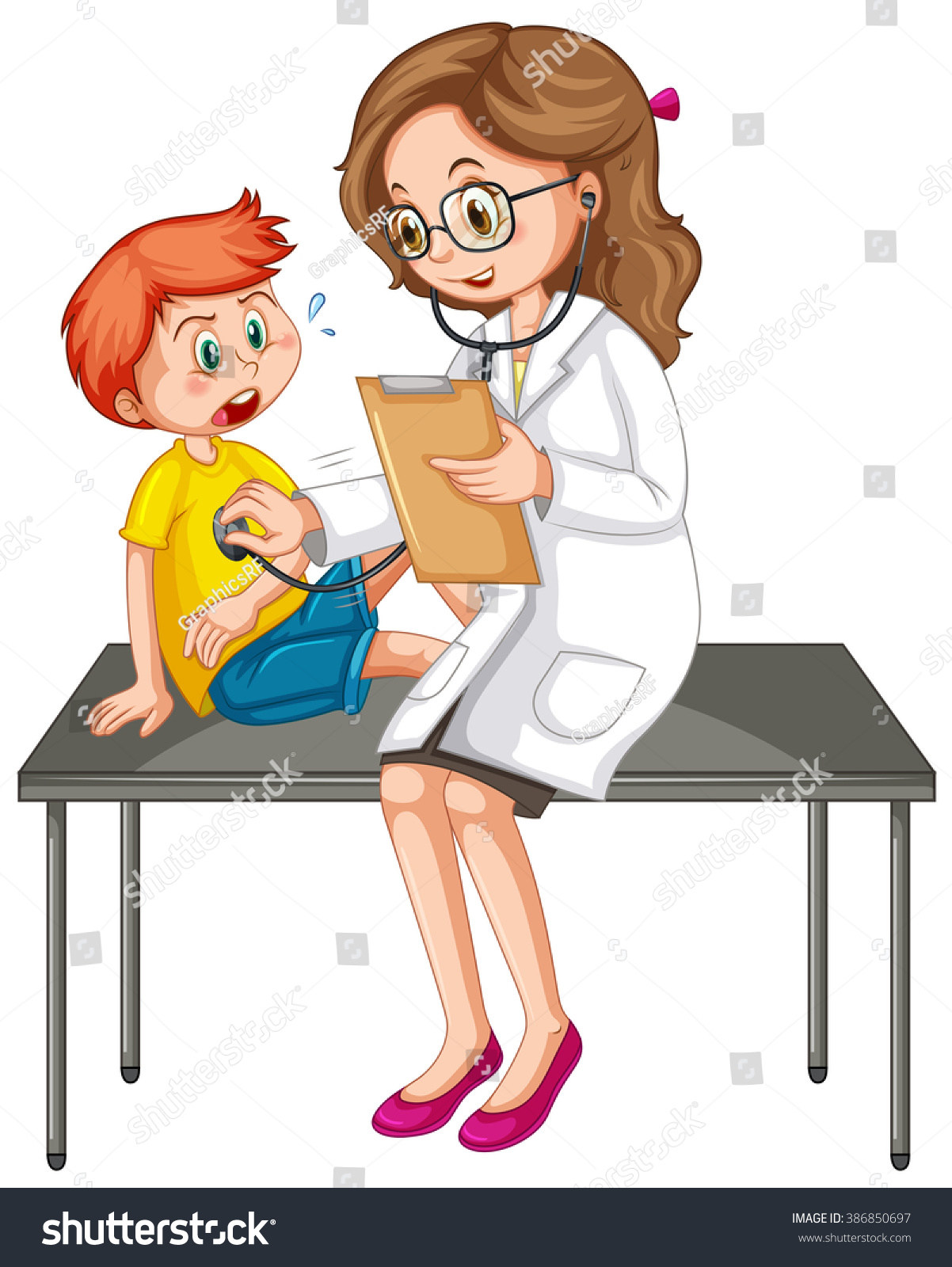Cropped Hands Of Doctor Examining Patient On Table Foto