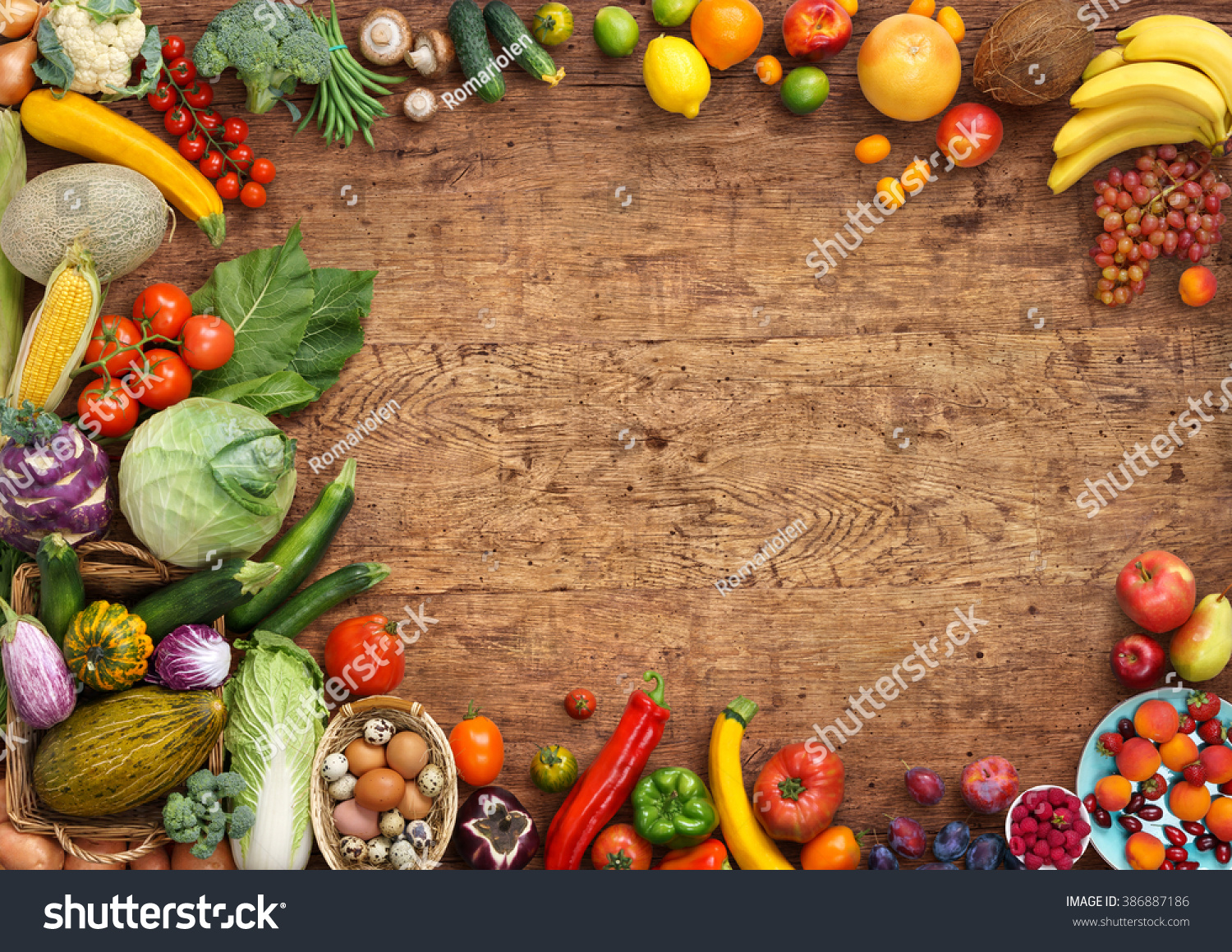 Food background studio photo of different fruits and vegetables - Organic Food Background Studio Photo Of Different Fruits And Vegetables On Old Wooden Table