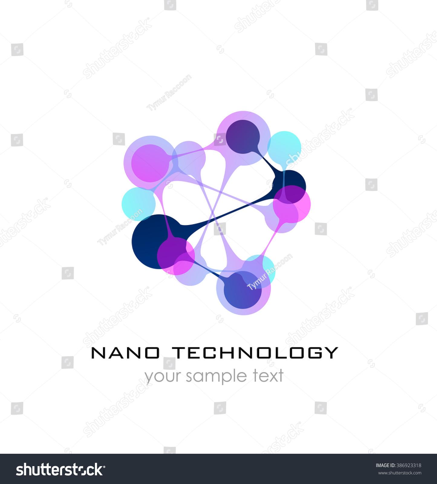 Nano Logo Nanotechnology Template Design Logo Stock Illustration
