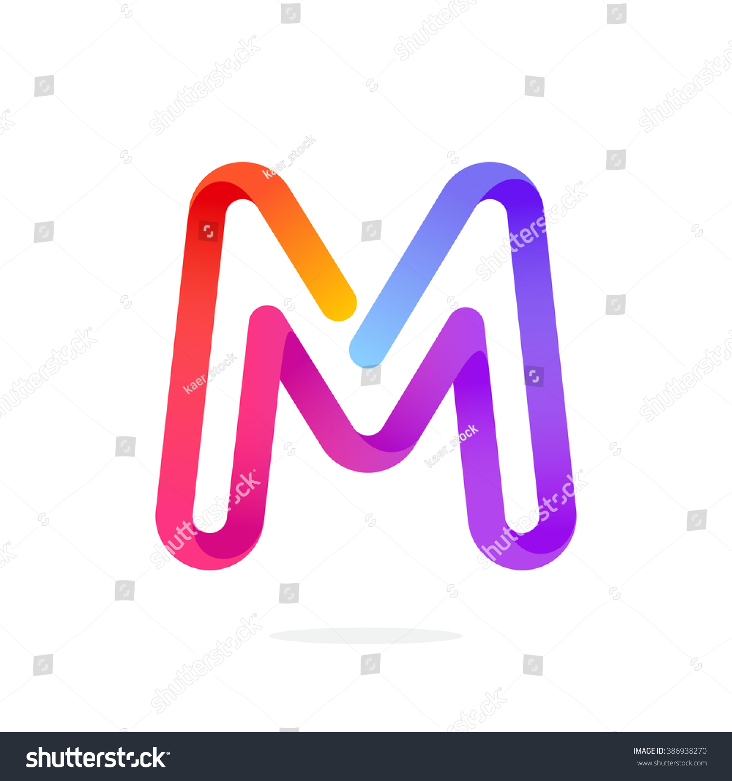 M Letter Colorful Logo Font Style Vector Design Template Elements For Your Application Or