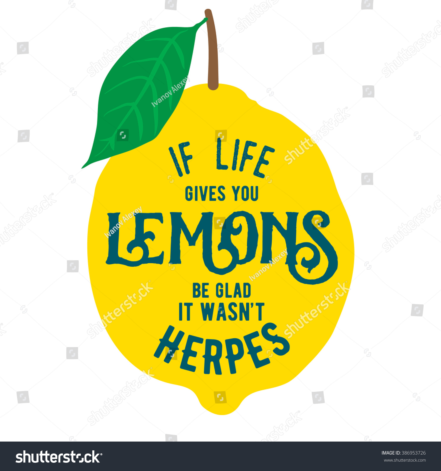 Motivation quote about lemons vector llustration stock vector motivation quote about lemons vector llustration for t shirt greeting card poster m4hsunfo