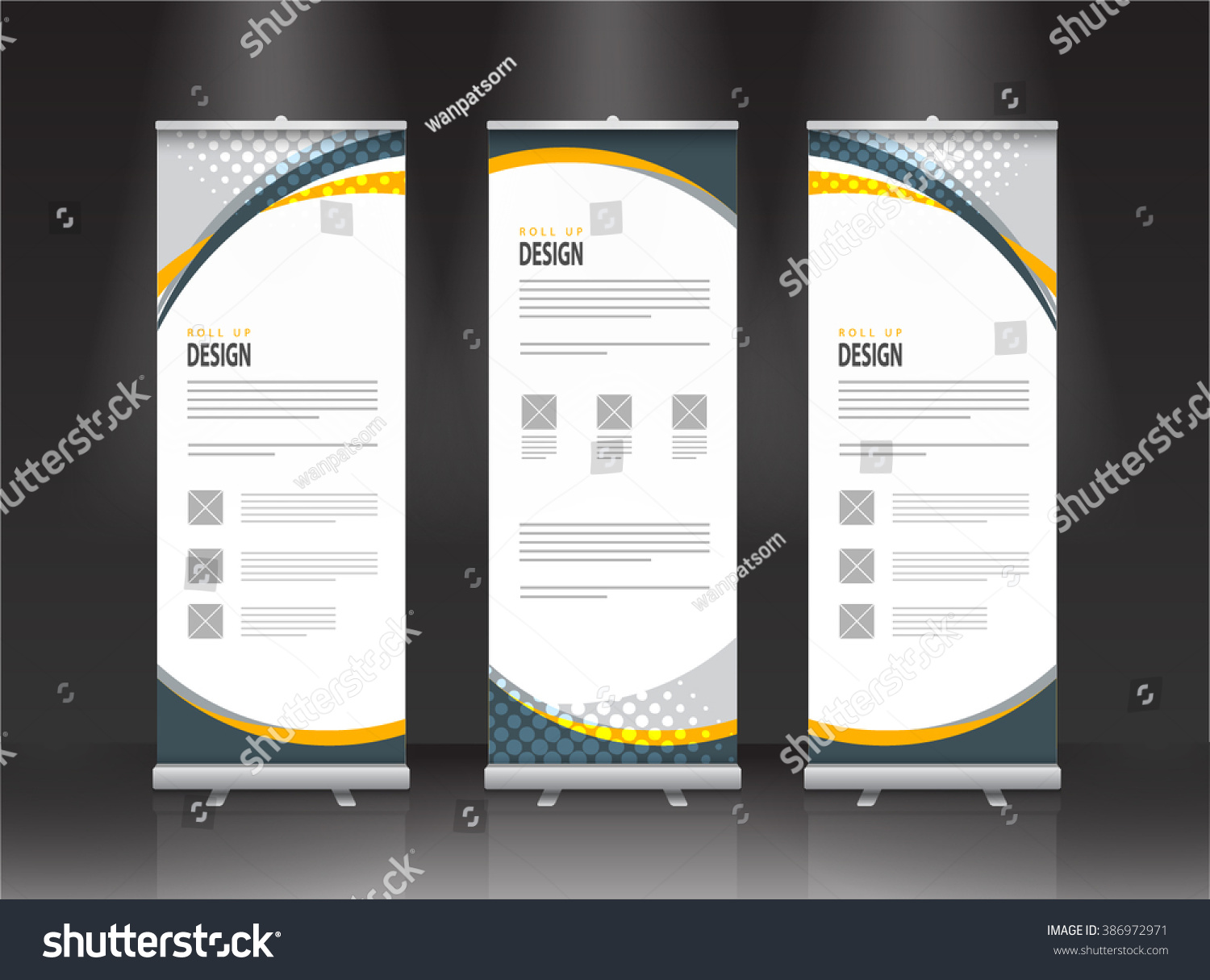Design for roll up banner - Roll Up Banner Stand Design Vector