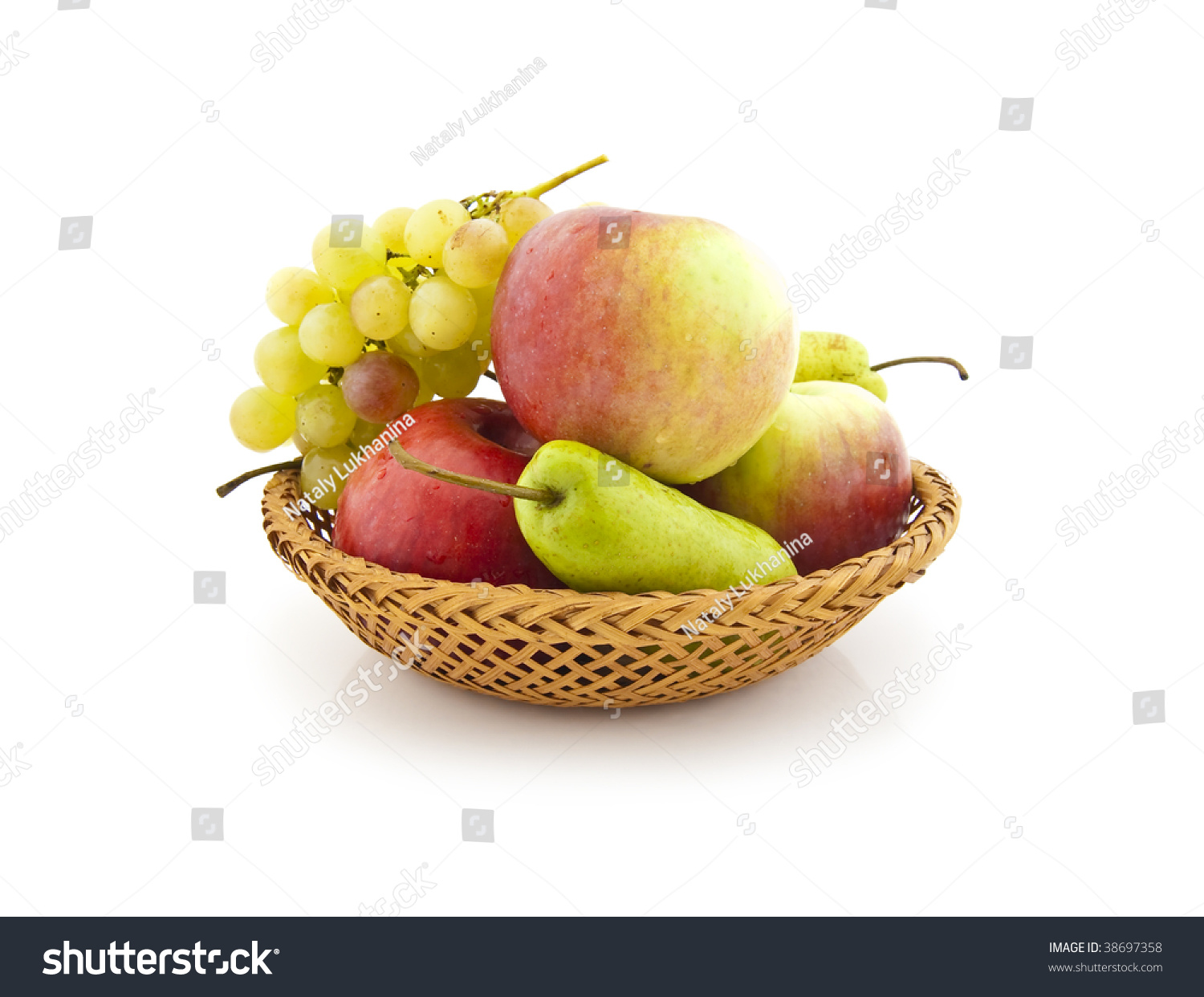 Apples, Pears And Grapes Appetizing Autumn Fruit Stock Photo 38697358 ...