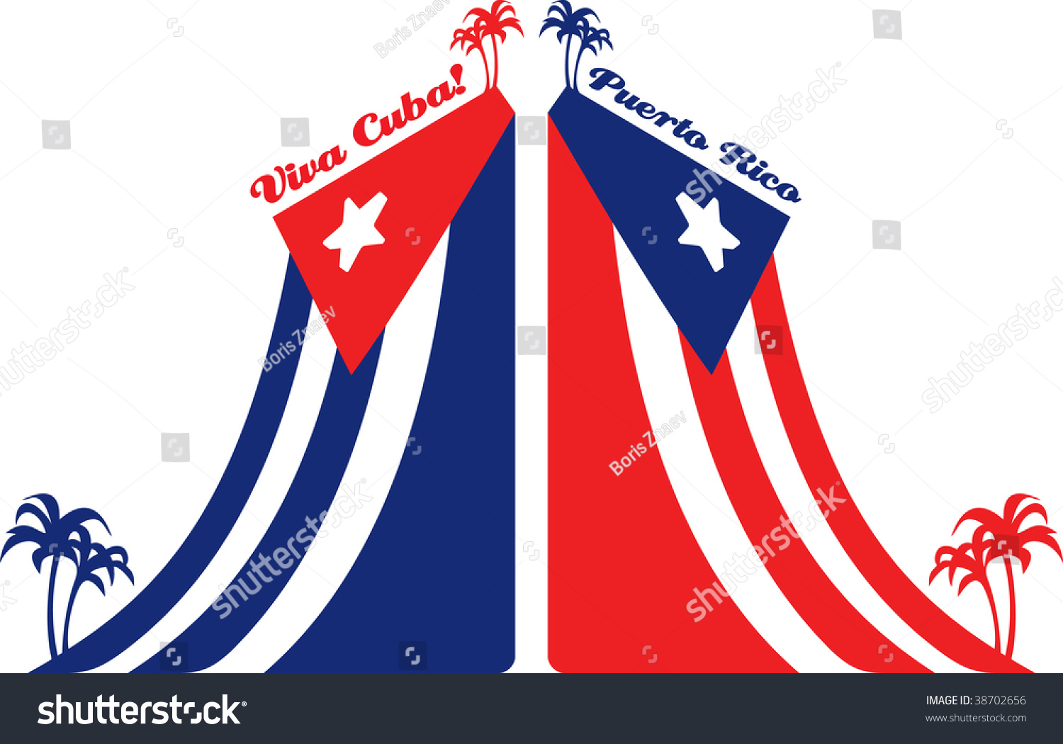 Cuba puerto rico flag palm stock illustration 38702656 shutterstock cuba and puerto rico flag and palm biocorpaavc Image collections