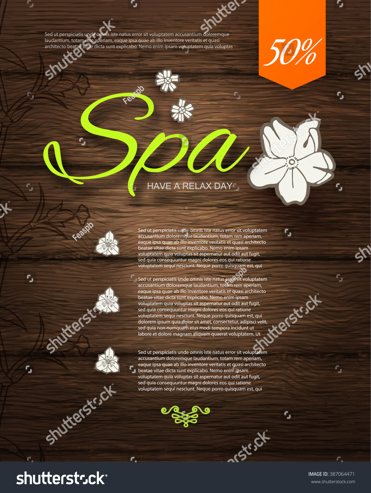 Spa Resort Beauty Business Poster Template Stock Vector