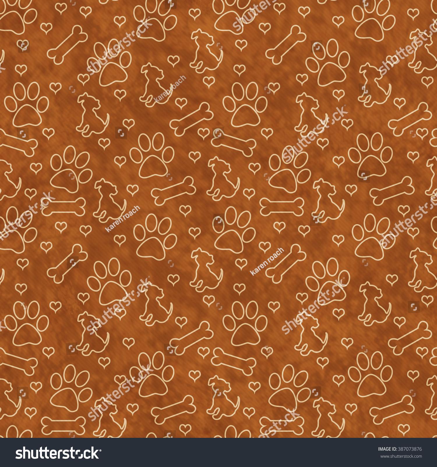 Brown dog bone background - photo#35