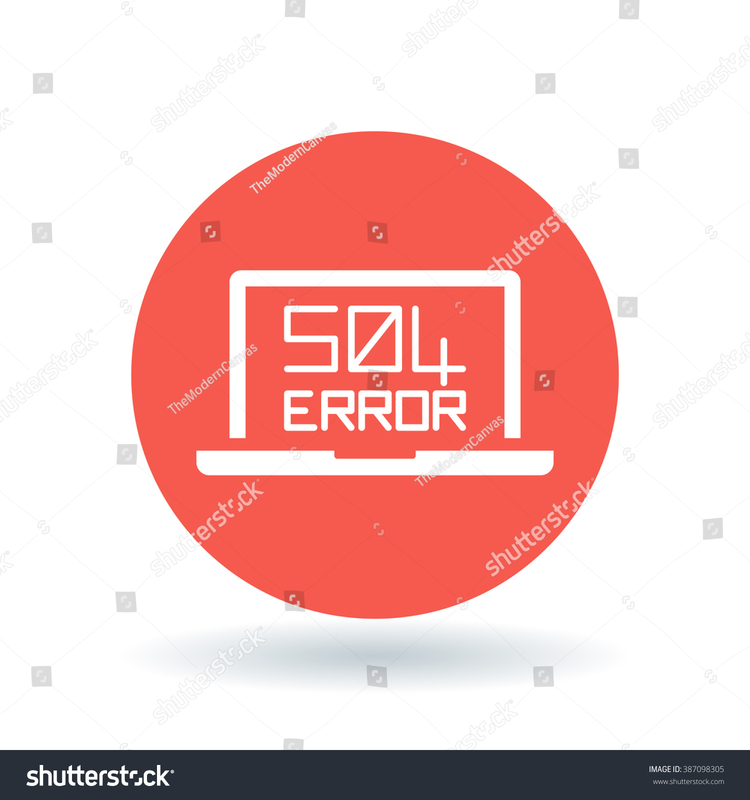 504 Gateway Timeout Error Icon Internet Stock Vector Royalty Free