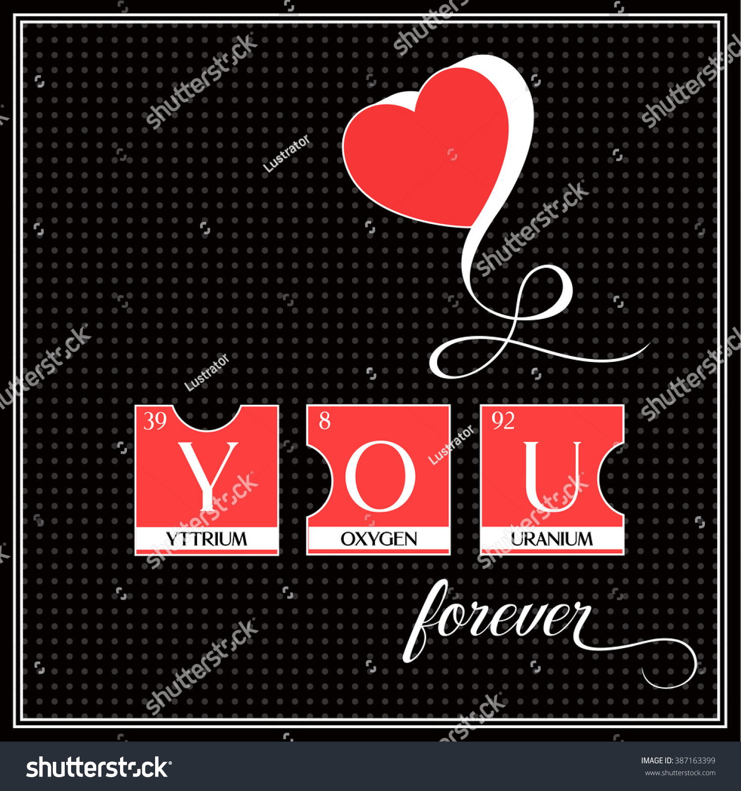 Love you word poster made periodic stock vector 387163399 love you word poster made of periodic table elements vector illustration perfect design from puzzles gamestrikefo Images