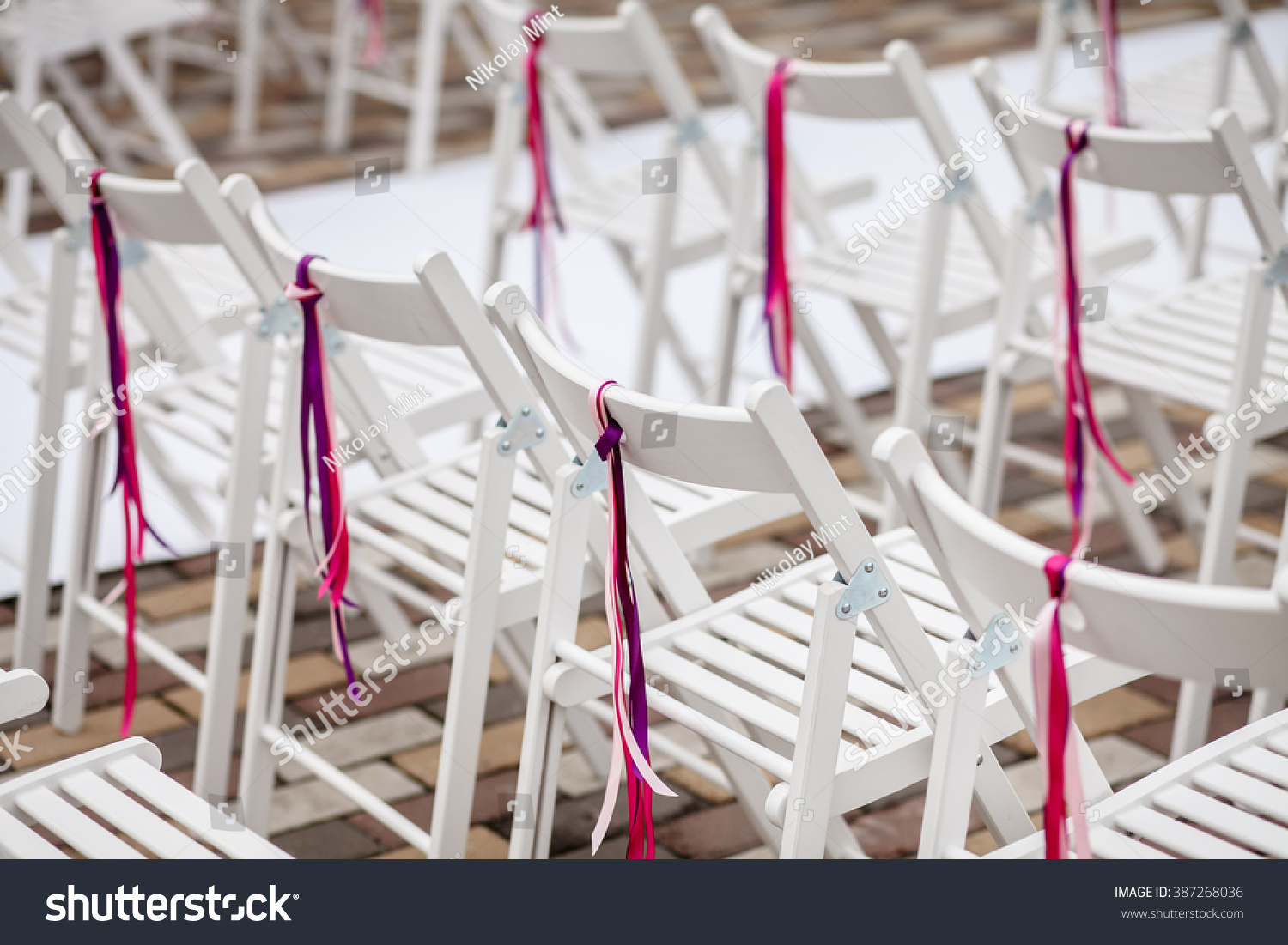 Chairs At A Wedding Ceremony Stock Photo 387268036 Shutterstock