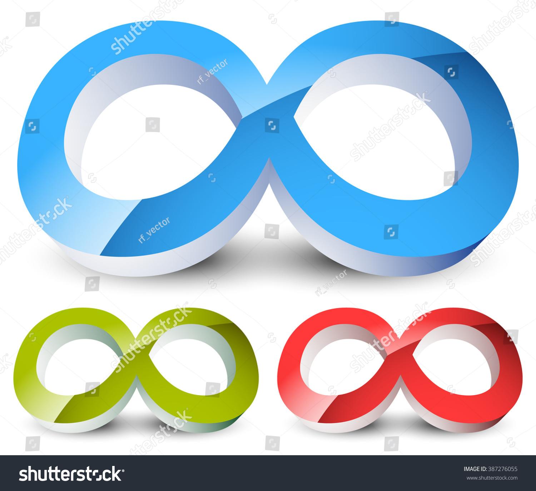Infinity Symbol Eeverlasting Infinite Cycle Continuity Stock