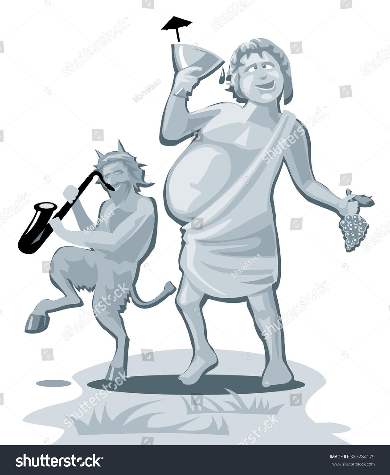 Dionysus satyr greek god isolated on stock vector 387284179 dionysus and satyr greek god isolated on white background vector flat gray illustration buycottarizona