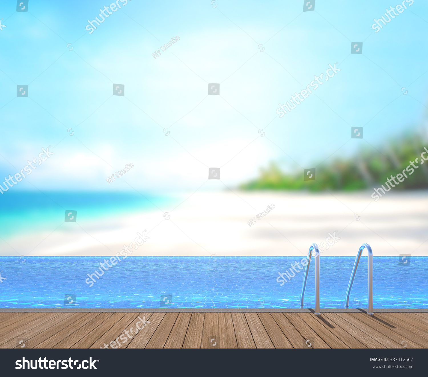 swimming pool terrace blur nature background stock photo 387412567 shutterstock. Black Bedroom Furniture Sets. Home Design Ideas