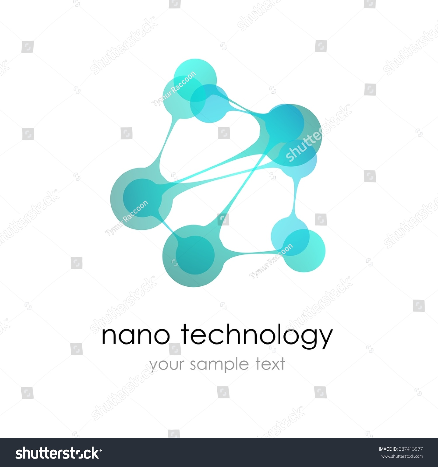 Nano Logo Nanotechnology Template Design Logo Stock Vector Royalty