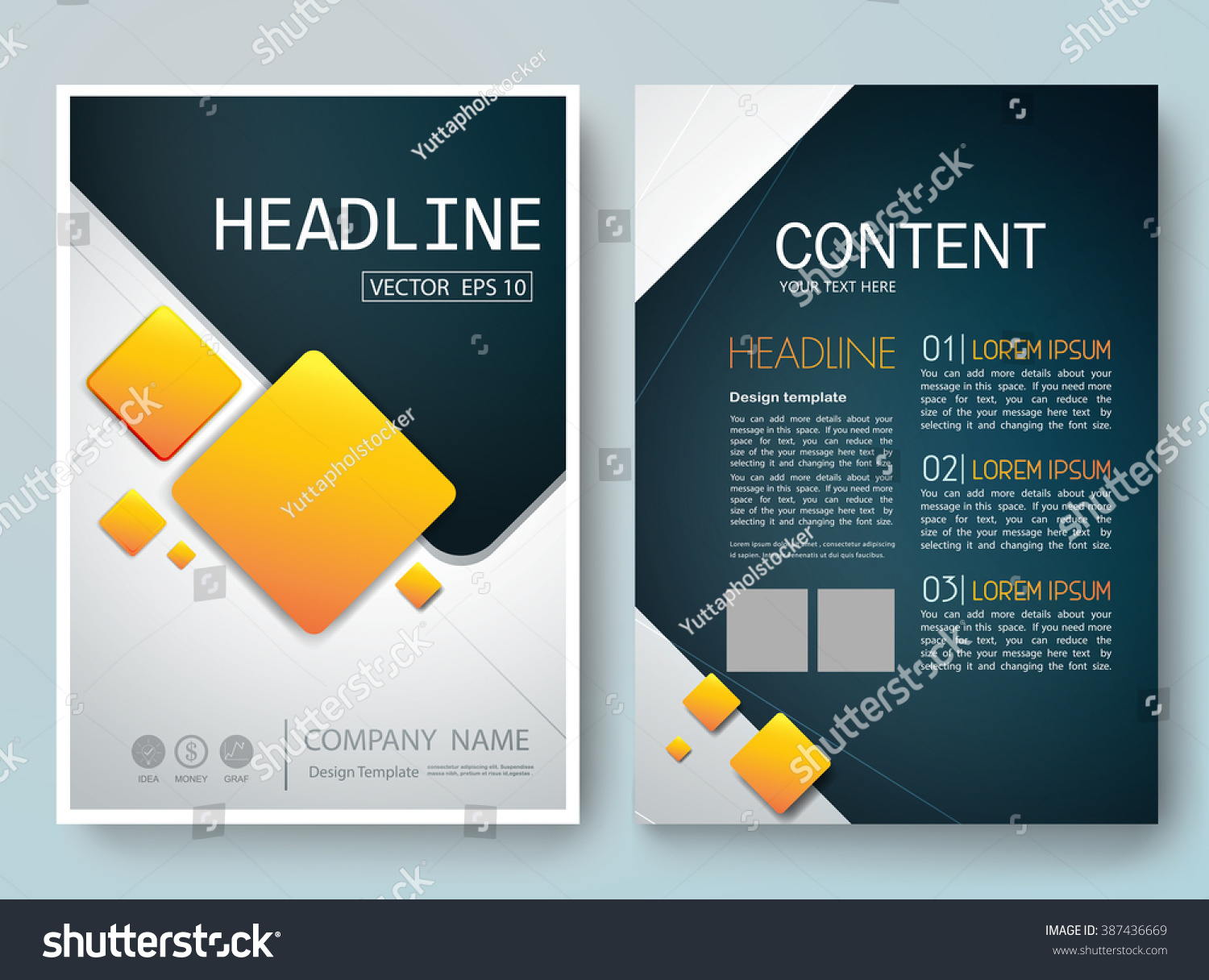Royalty free modern flyers brochure cover annual for Layout design software free download