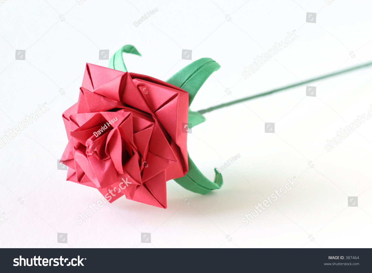 Complex Origami Rose Stock Photo 387464 Shutterstock