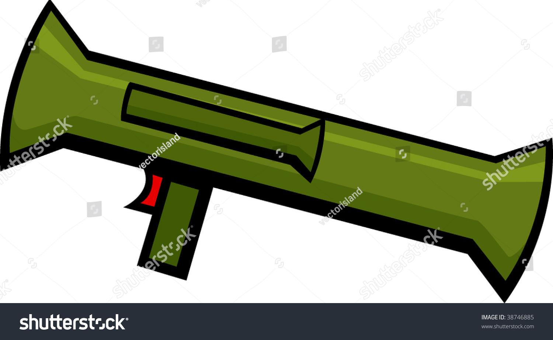 Bazooka Rocket Launcher Stock Vector 38746885 Shutterstock