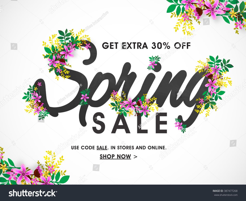 spring sale banner sale poster sale stock vector 387477268