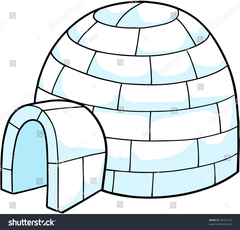 Clip Art Igloo Clip Art white snow igloo vector illustration stock 38753143 illustration