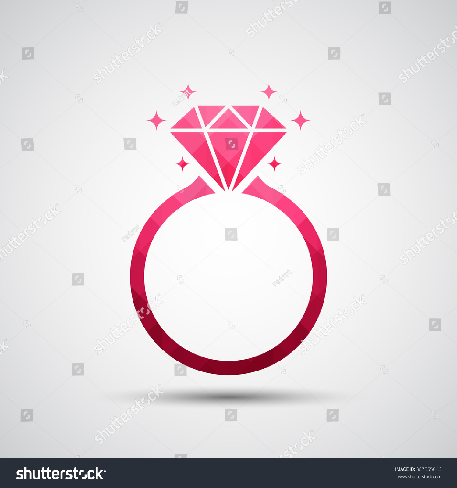 diamond ring vector icon - photo #10