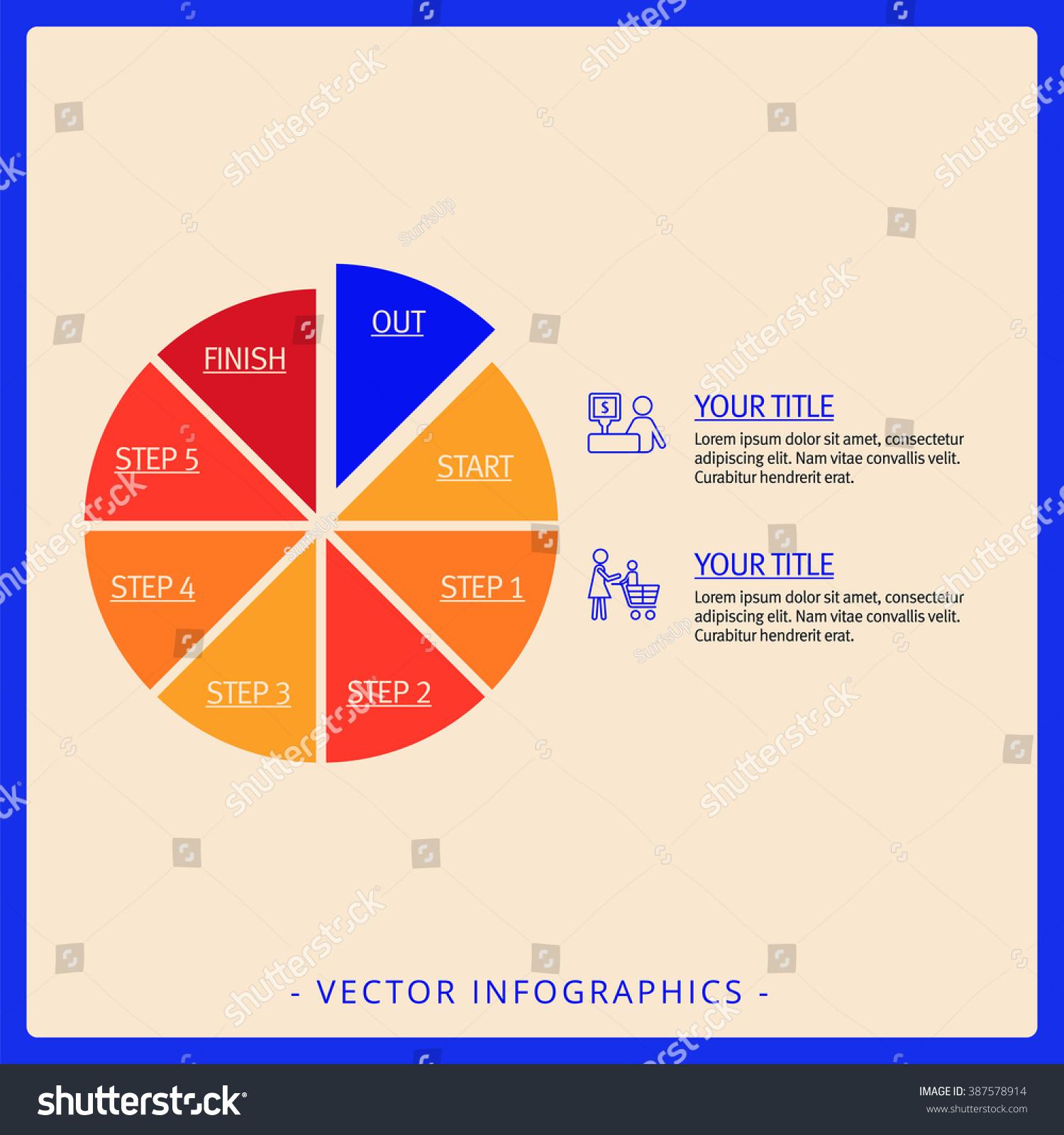 Pie Chart Template 2 Stock Vector 387578914 Shutterstock
