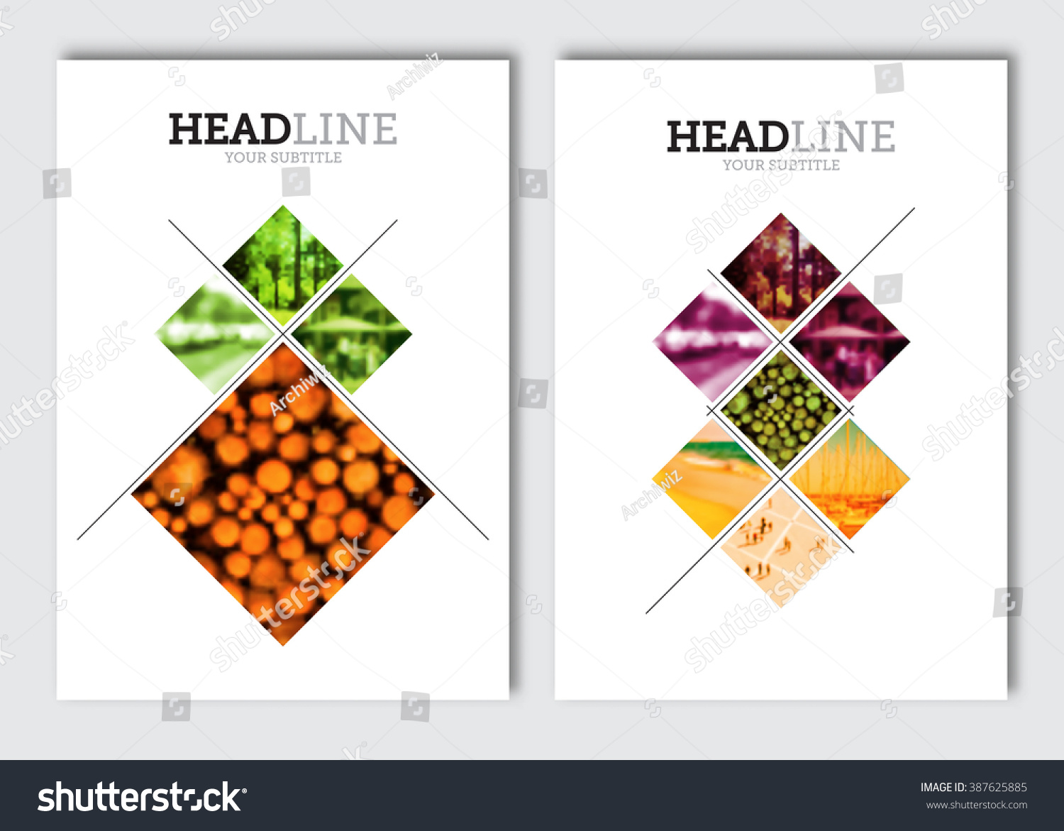Business Brochure Design Template Vector Flyer Stock