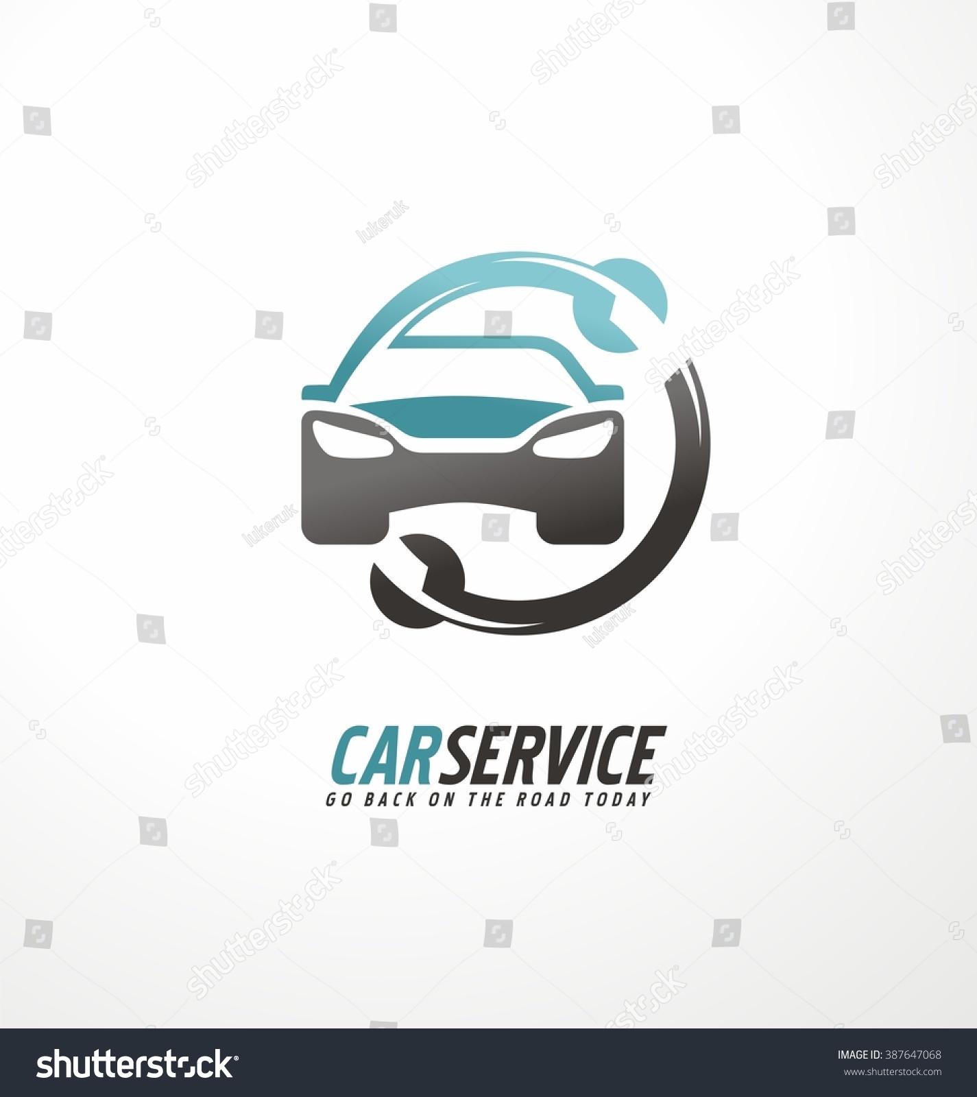 car abstract vector logo design concept stock-vektorgrafik