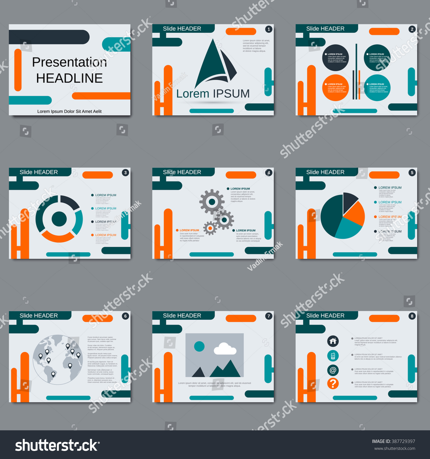 professional business presentation slide show brochure stock vector 387729397 shutterstock. Black Bedroom Furniture Sets. Home Design Ideas