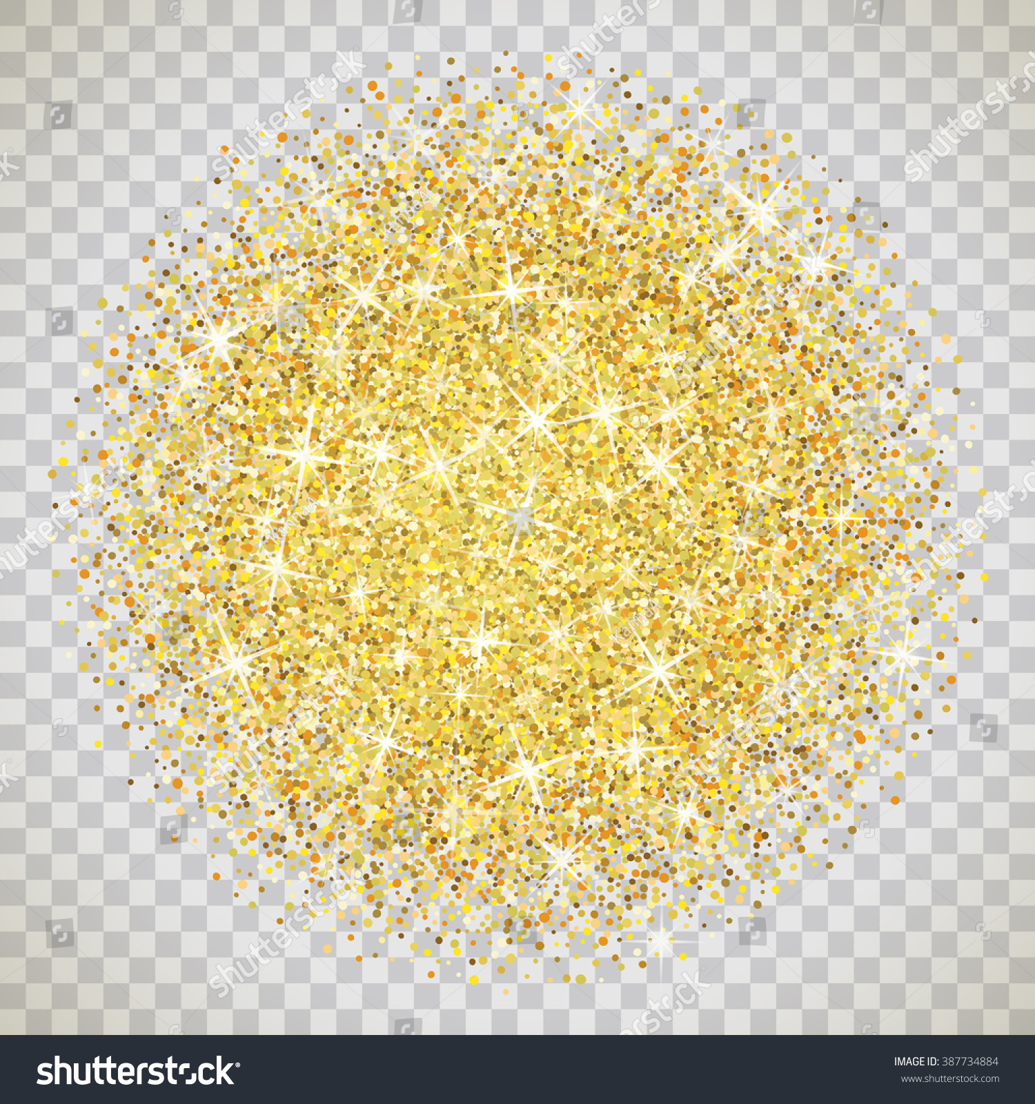 Gold glitter bright vector transparent background golden sparkles - Gold Glitter Texture Isolated On Transparent Background Vector Illustration For Golden Shimmer Background Sparkle