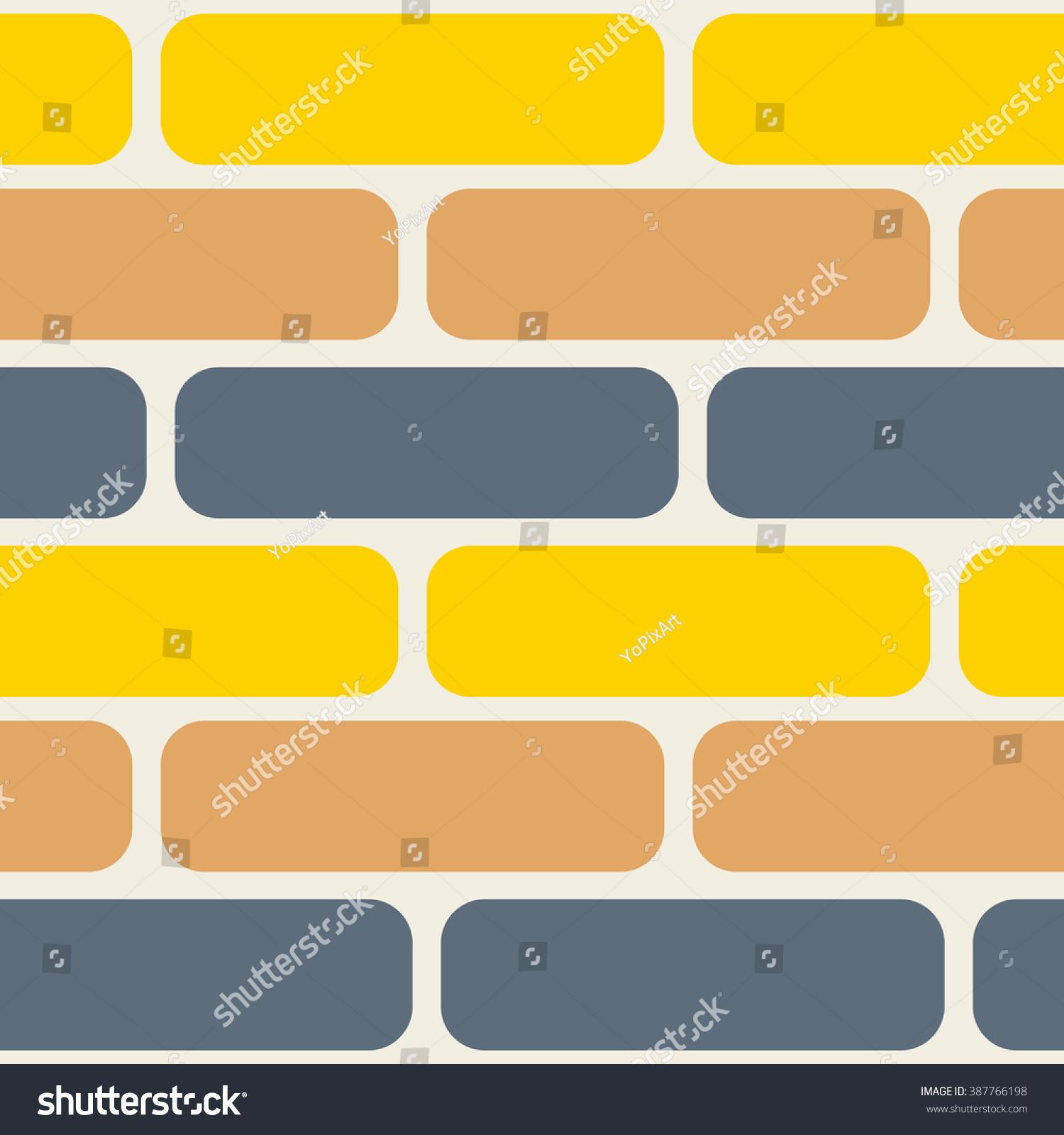 Color Bricks Seamless Vector Pattern Grey Stock Vector 387766198 ...