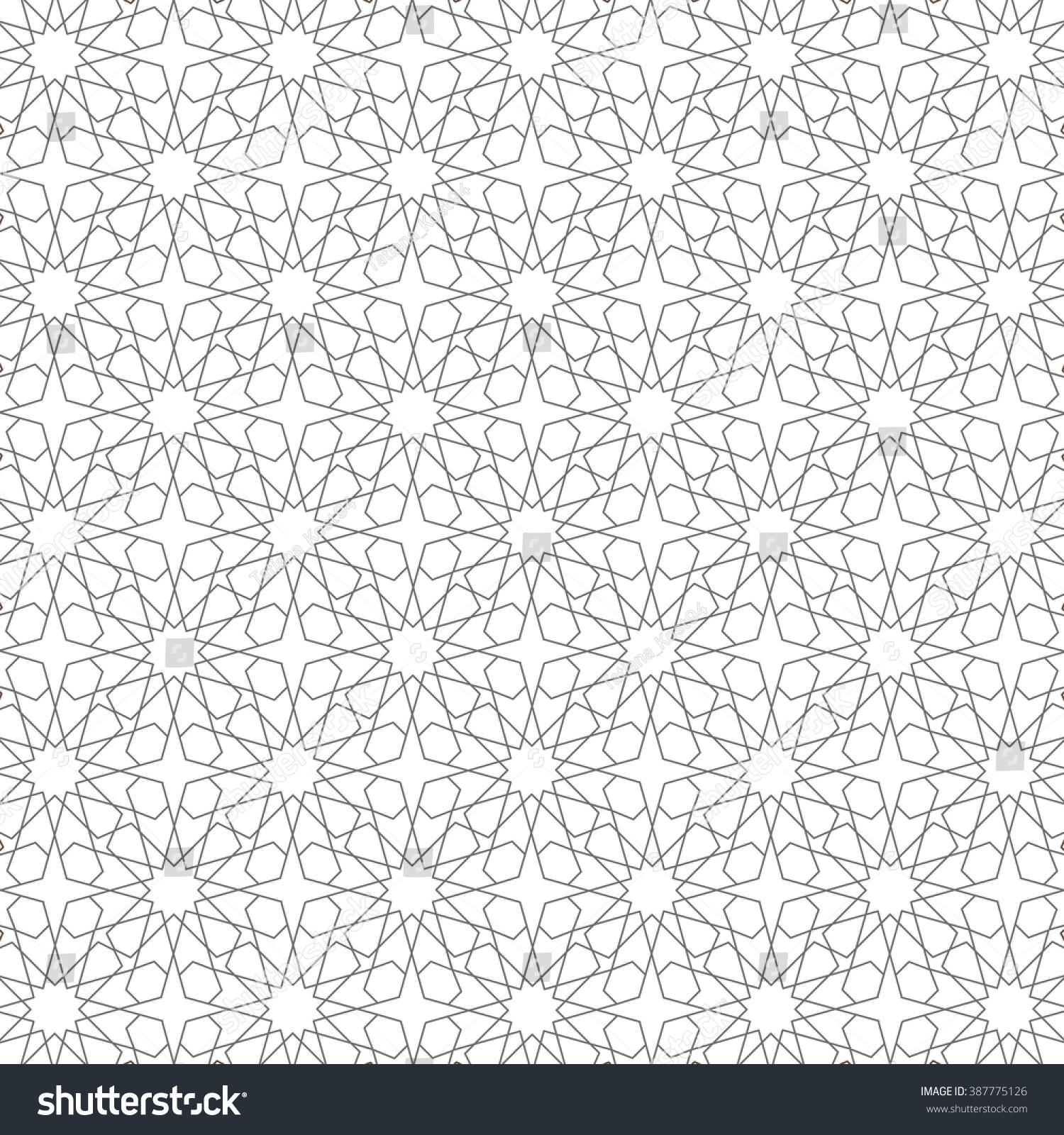 Ornamental Pattern Vector Abstract Background Arabic Islamic Motif