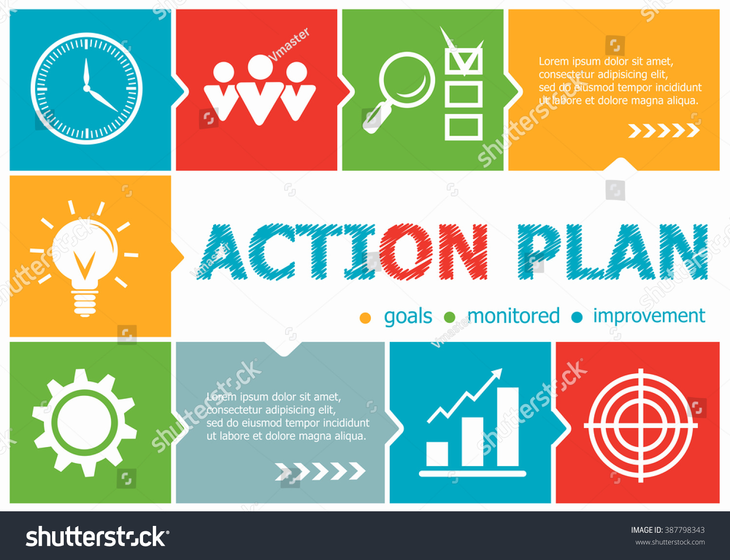 Action Plan Design Illustration Concepts Business Vector – Action Plan