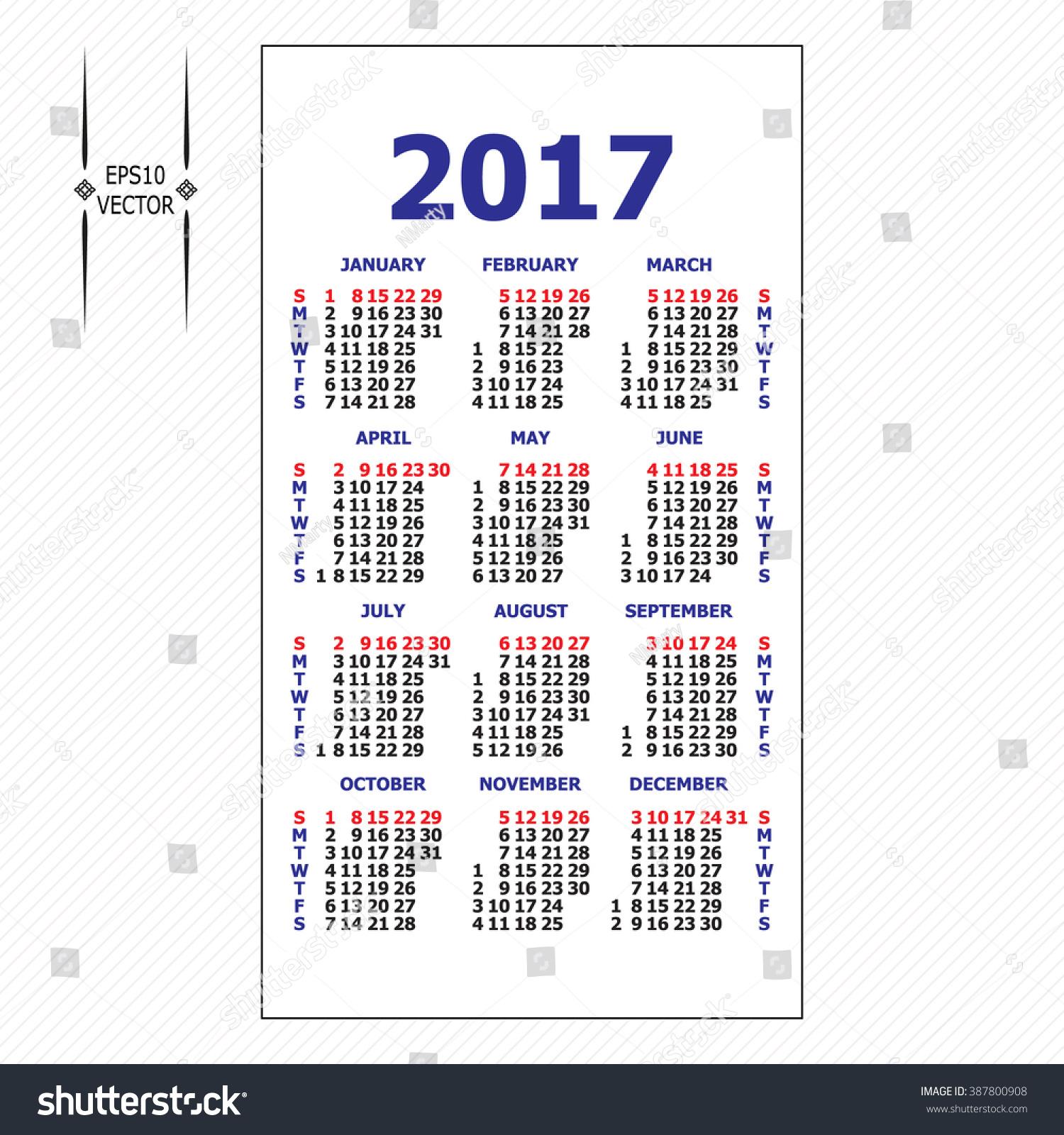 blank calendar grid