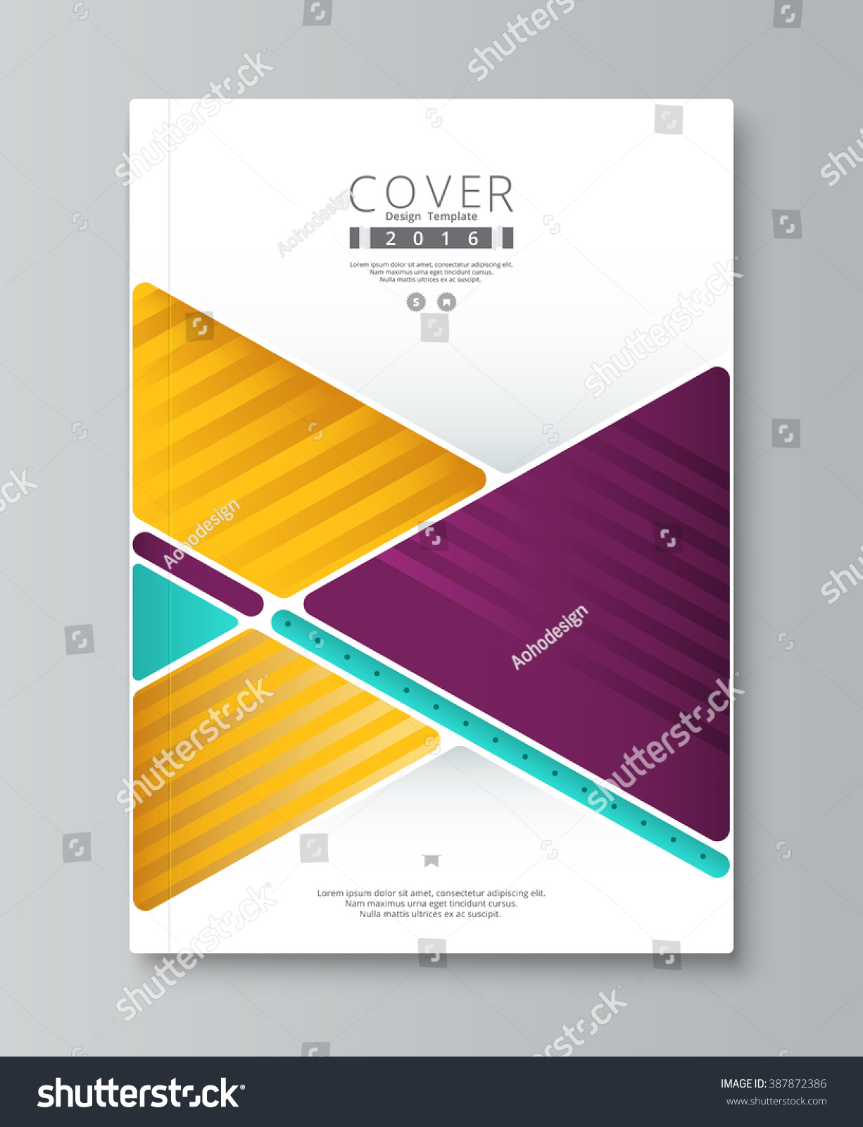 book report brochure template - royalty free abstract annual report cover design