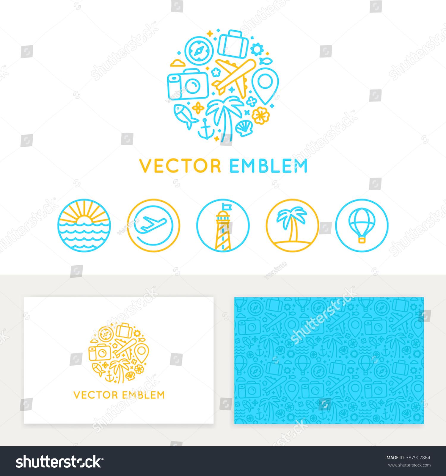 vector logo template business card design stock vector